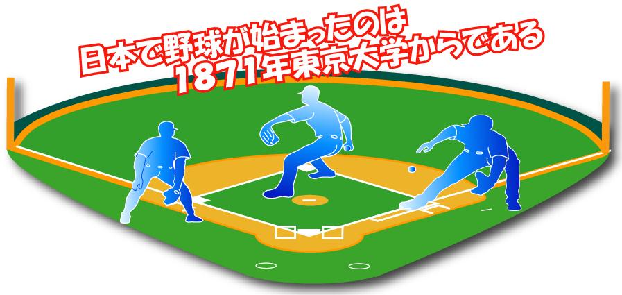 日本で初めて野球が始まったのは東京大学からである!