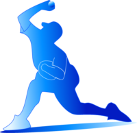 野球の中心であるピッチャーのイラストここから各ポジションの役割を説明