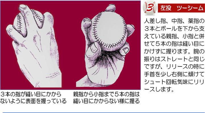 ツーシームの色んな握り方-3