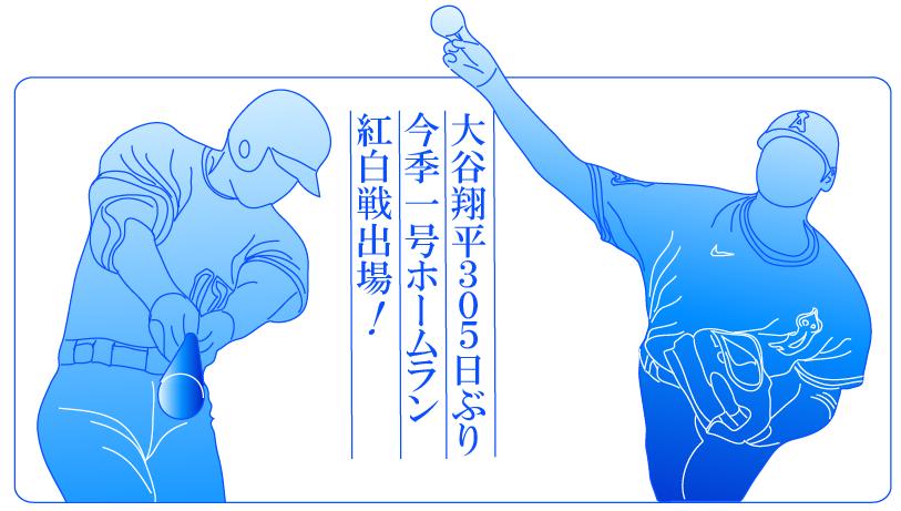 大谷今季第1号ホームラン305日ぶり紅白戦